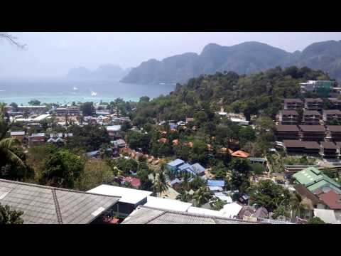 Koh Phi Phi viewed from the scenic view observation deck