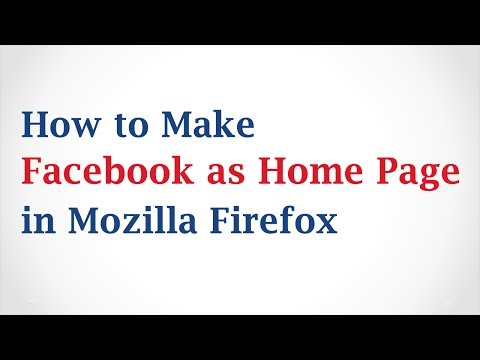 How to Make Facebook As Your Homepage in Mozilla Firefox