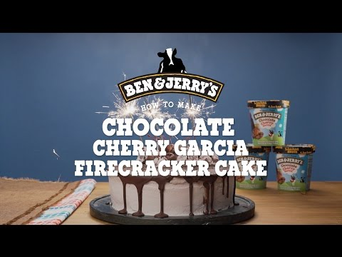 Chocolate Cherry Garcia Firecracker Cake | Ben & Jerry's