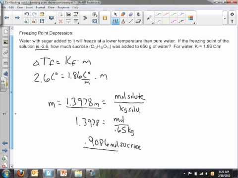 15 4 freezing point depression   find mass example