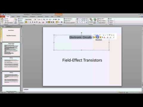 Lesson 01.9 The Mini Toolbar   MS PowerPoint Urdu and Hindi language by Microsoft Office Power Point