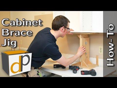Hang Upper Cabinets by Yourself - Cabinet Brace How-To