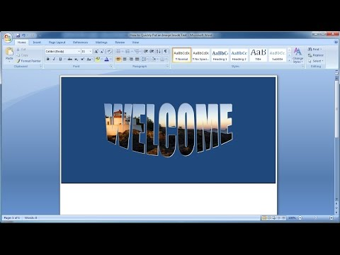 Microsoft word tutorial |How to Quickly Put an Image Inside Text in Word