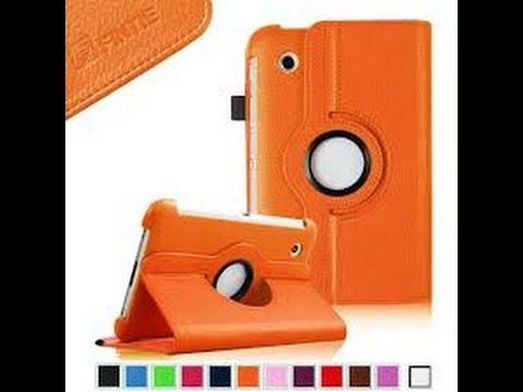 iPad 4 and iPad Mini Case Review: FINTIE 360 Degree Rotating cases  (Orange / Magenta )