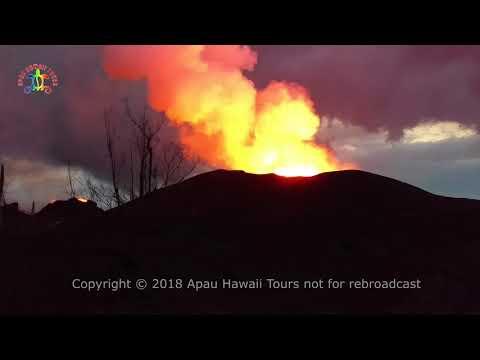 Leilani Estates lava and Malama update June 9, 2018