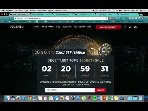 How To Participate In The Decent.Bet ICO
