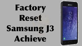 Samsung Galaxy J3 Achieve 2018 (SM-J337P) FRP Bypass Android 8 0 0