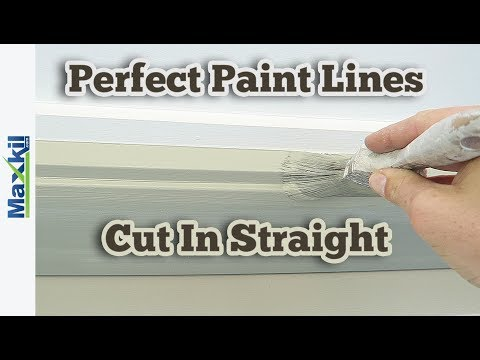 How to paint cut in straight lines painting