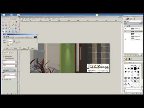 GIMP Tutorial - Changing layer images in Facebook Banner template