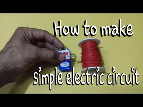 👍How to make model of simple electric circuit || build led electric circuit | simpley circuit