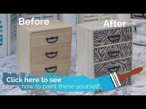 How To Paint A Chest of Drawers Using Farmhouse Paints and Texture Tissues