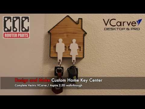 Design and Make a 2.5D Key Ring Holder, Complete VCarve Walk-Through