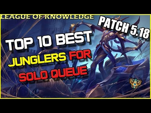 ✔ Top 10 Best JUNGLERS for Solo Queue - Patch 5.18 & WORLDS - TIER LIST | League of Legends