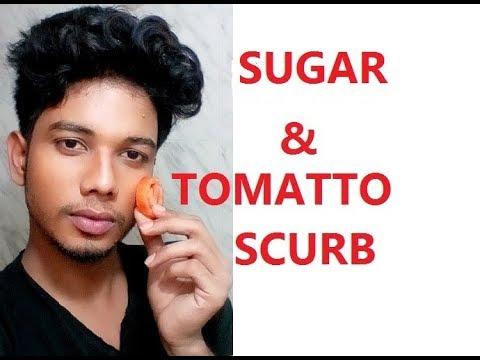Tomato  and Sugar Scrub | Tomato Scrub For Fairness,Glowing,Whitening Skin | Tomato Face Mask