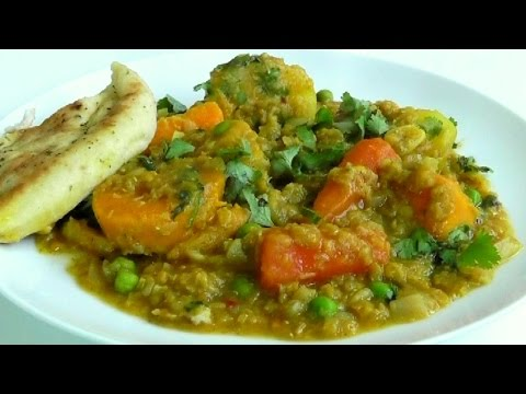 Healthy One Pot Casserole Spicy Vegetables & Lentils How to make recipe
