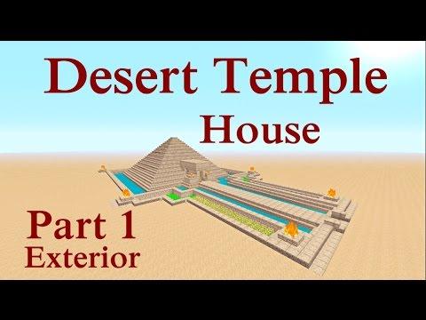 Minecraft tutorial : Desert Temple House Part 1 Exterior