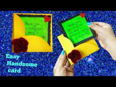 Easy Handmade Card||Cute Handmade love card||Handmade card Making...