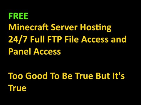 24/7 Free Minecraft Server Hosting Full FTP and Panel Access