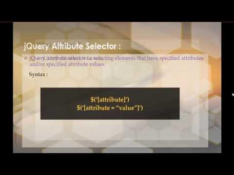 jQuery 8 - Selectors - Attribute selector