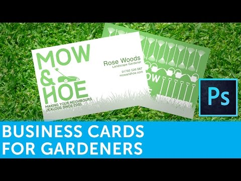How To Design A Landscape Gardener Business Card In Adobe Photoshop | Solopress Video Tutorial