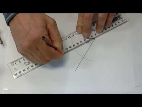 Create a 60 degree angle and bisect it