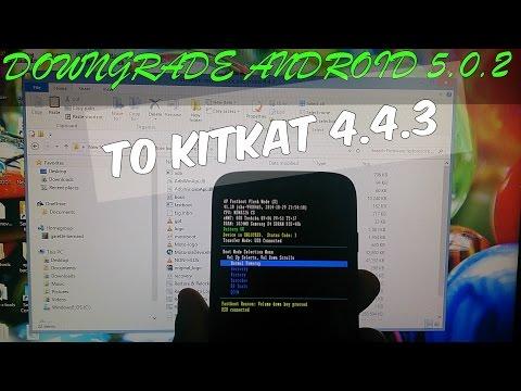 Moto G XT1032 Downgrade Lollipop To Kitkat 4.4.3 unlocked uk model only