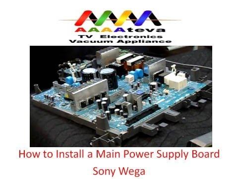 Main Power Supply Board Installation on Sony Wega TV