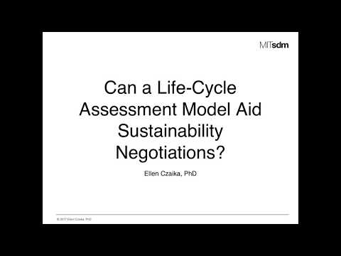 Can a Life-Cycle Assessment Model Aid Sustainability Negotiations?