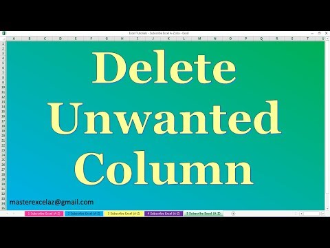 How to Delete unwanted column in Power Pivot in MS Excel 2013