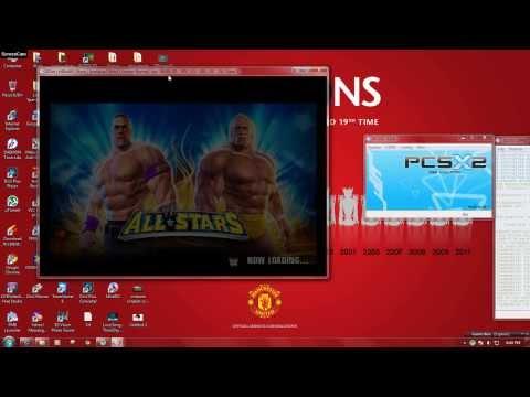 WWE all stars pcsx2 0.9.8 best setting,best fps (HD)