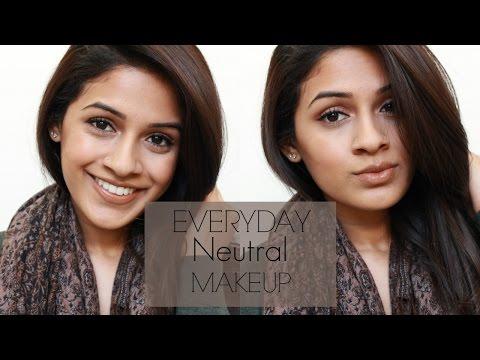 Everyday Neutral Makeup | Work & School Friendly | Simple Look | Brown skin