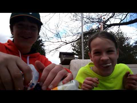 Chubby bunny challenge with Justin and Kaleigh!