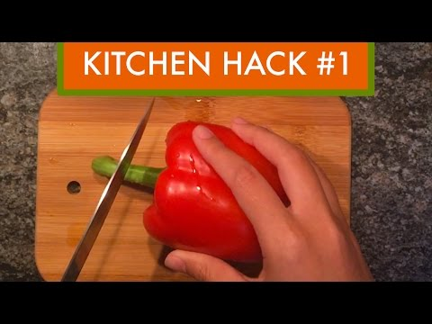 Kitchen Hack #1: How To Cut Peppers
