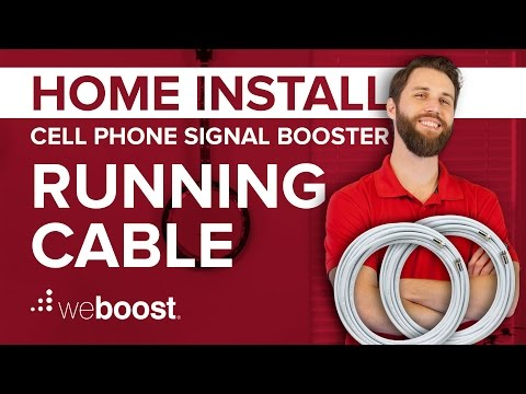 Running Cable Into Your Home - Cell Phone Signal Booster Home Install Series (3 of 6) | weBoost
