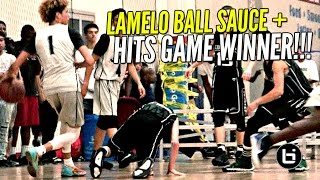 LaMelo Ball EXTRA SAUCY Today & Hits GAME WINNER w/ Lonzo & LiAngelo Watching!!!