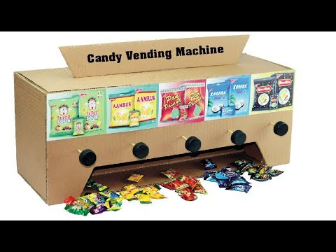 How to Make Candy Vending Machine with Cardboard - DIY Candy Dispenser