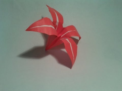 Origami - How to make an easy origami flower (origami instructions)