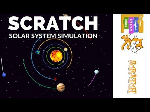 Scratch Solar System Simulation