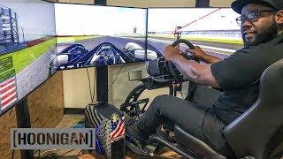 [HOONIGAN] DT 210: Assetto Corsa on Fanatec Racing Simulator - Hoonigan Lap Battle