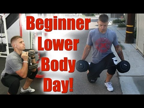Full Beginner Lower Body Workout! (Set by Set)