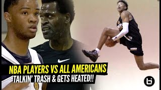 HS All Americans vs NBA Players Gets HEATED At Iverson Classic!! Trash Talk Gets REAL!!