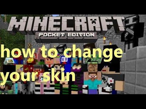 HOW TO CHANGE YOUR SKIN IN MINECRAFT PE 0.9.5 [EASY]