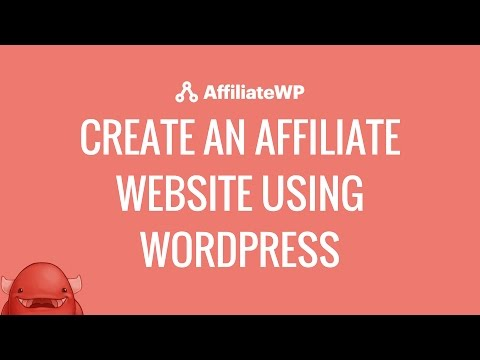 Create an affiliate website with WordPress using AffiliateWP