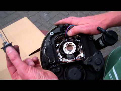 How to remove headlight bulb / change to LHD on BMW Mini Cooper S headlamp