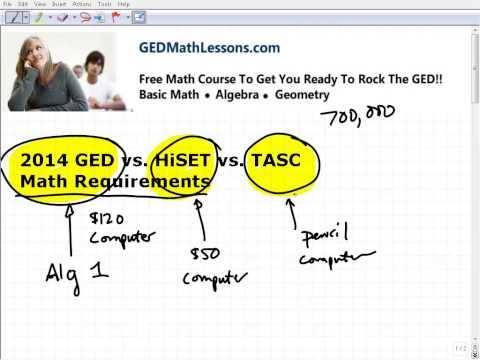 2014 GED vs.HiSET vs. TASC Which Is Easier?