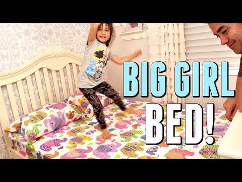 JB FINALLY GETS HER BIG GIRL BED! - August 16, 2017 -  ItsJudysLife Vlogs