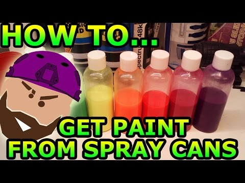 HOW TO: Get Paint out of Aerosol Spray Cans!