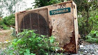 Restoration Old Rusty Air Conditioner TOSHIBA | Restore Air conditioning condenser