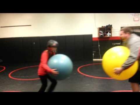 David vs Goliath yoga ball edition