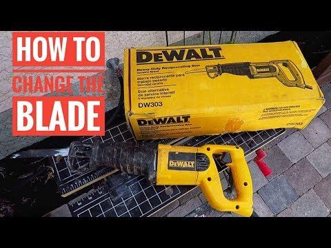 How to Change Dewalt Reciprocating Saw Blades